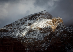 Sedona Red Rocks and Winter Snow